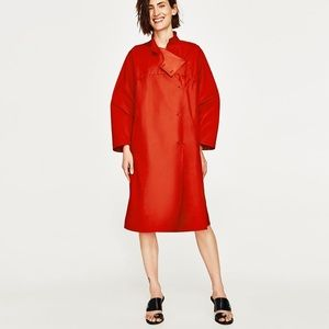 Jackets & Blazers - CORAL OVERSIZED CAPE TRENCH COAT